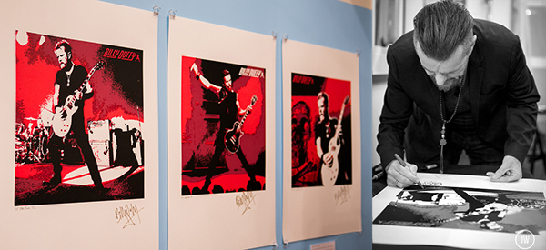 Signed Billy Duffy Posters