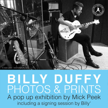 Billy Duffy Photos & Prints Pop Up Exhibition by Mick Peek