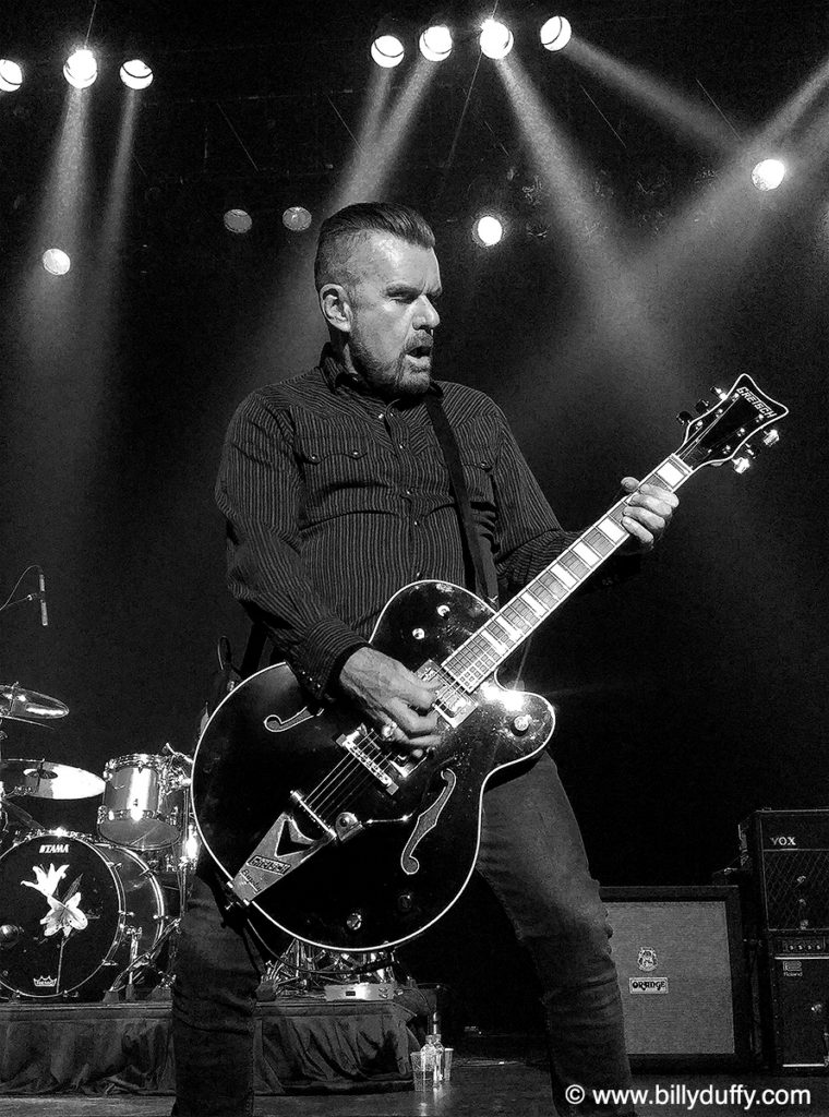The Billy Duffy Gretsch Black Falcon in Anaheim