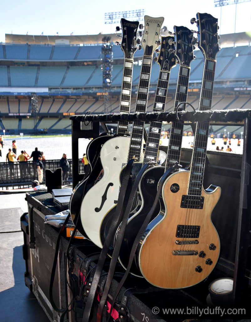 Billy Duffy's Guitars for the Dodger Stadium Show...