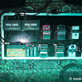 The BD Pedal Board for 'Alive in the Hidden City'