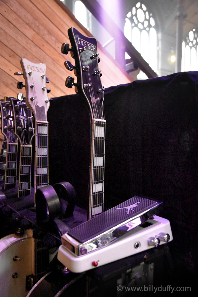 The BD Guitars & Cry Baby await the show...