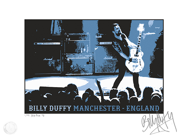 Buy Billy Duffy Manchester England Signed Limited Edition Print