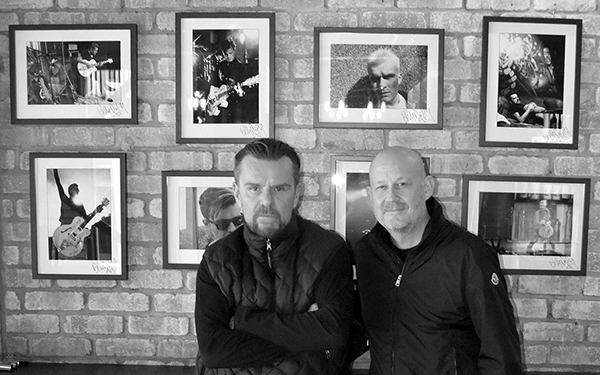 Billy and Mick at the Pop Up Exhibition in Manchester