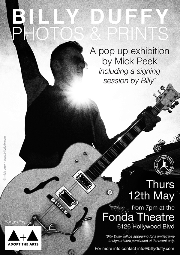 Billy Duffy Pop Up Exhibition 12th May 2016
