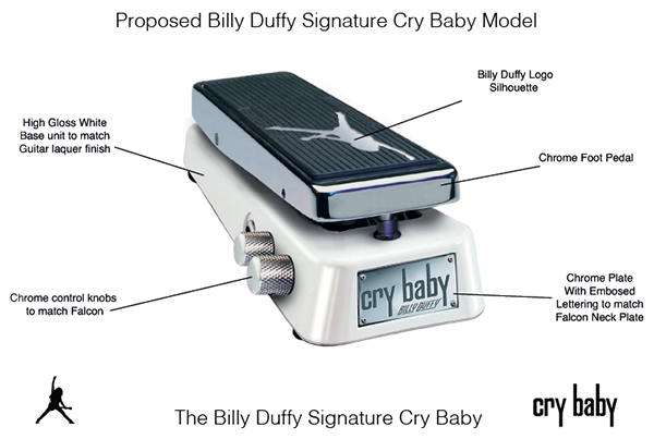 Billy Duffy Cry Baby Mock Up