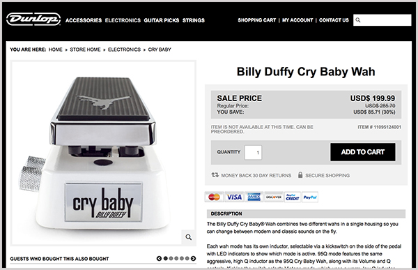 Buy the BD95 Cry Baby from Dunlop