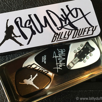 Billy Duffy Signed Pick Set 2016