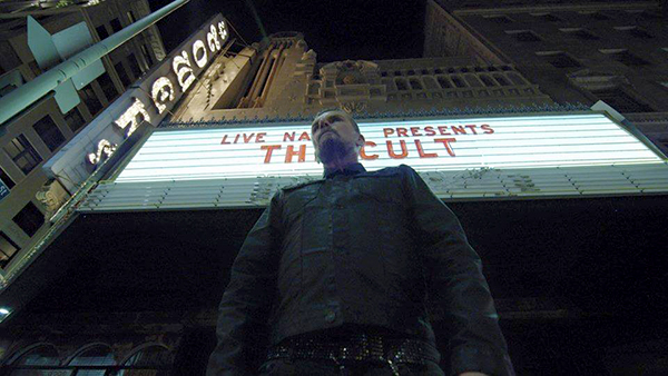 Billy Duffy outside Cult show