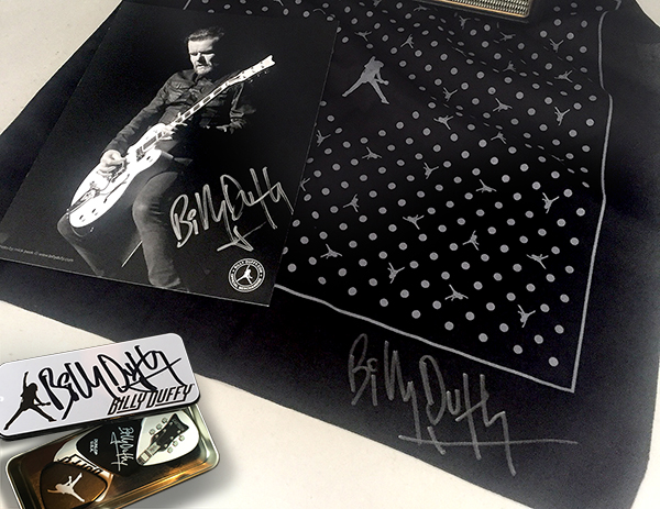 New Billy Duffy Signed Tour merchandise