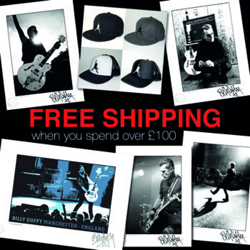 Billy Duffy Store Free Shipping Offer