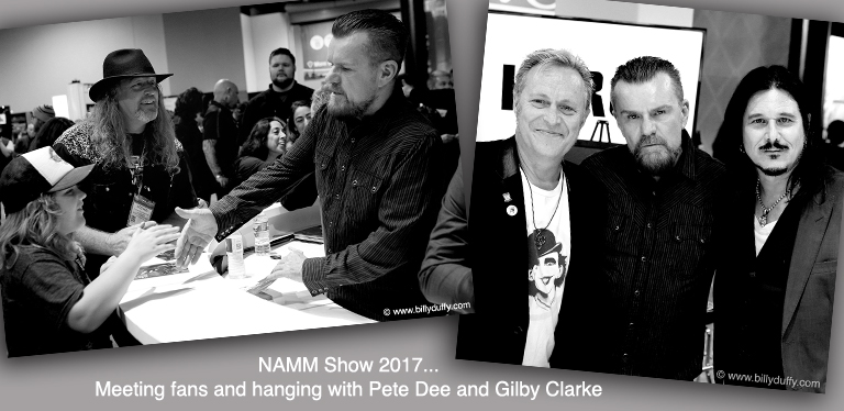 Billy Duffy at NAMM Show 2017