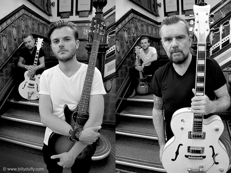 Adam Lawrence who plays a young Billy Duffy in 'England is Mine' and the real Billy Duffy
