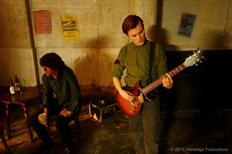 Steven Patrick Morressey (Jack Lowden) and Billy Duffy (Adam Lawrence) in a scene from 'England is Mine'.