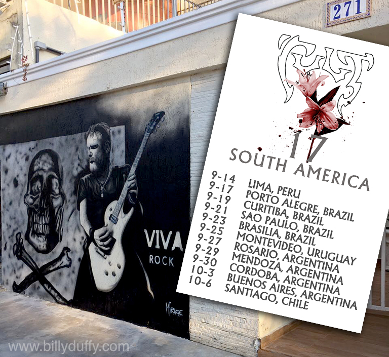 Billy Duffy & The Cult South America 2017