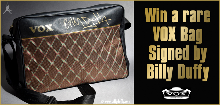 Win a rare VOX bag signed by Billy Duffy