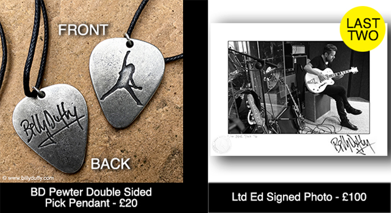 Billy Duffy Signed Merchandise