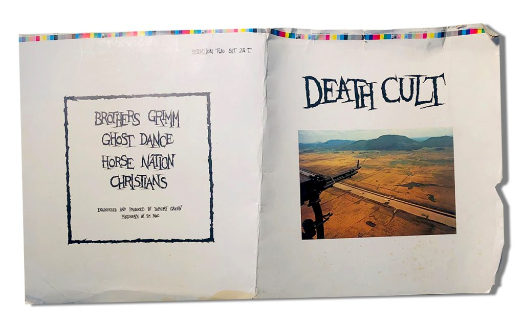 """Death Cult EP – """"unfinished"""" cover 1983"""