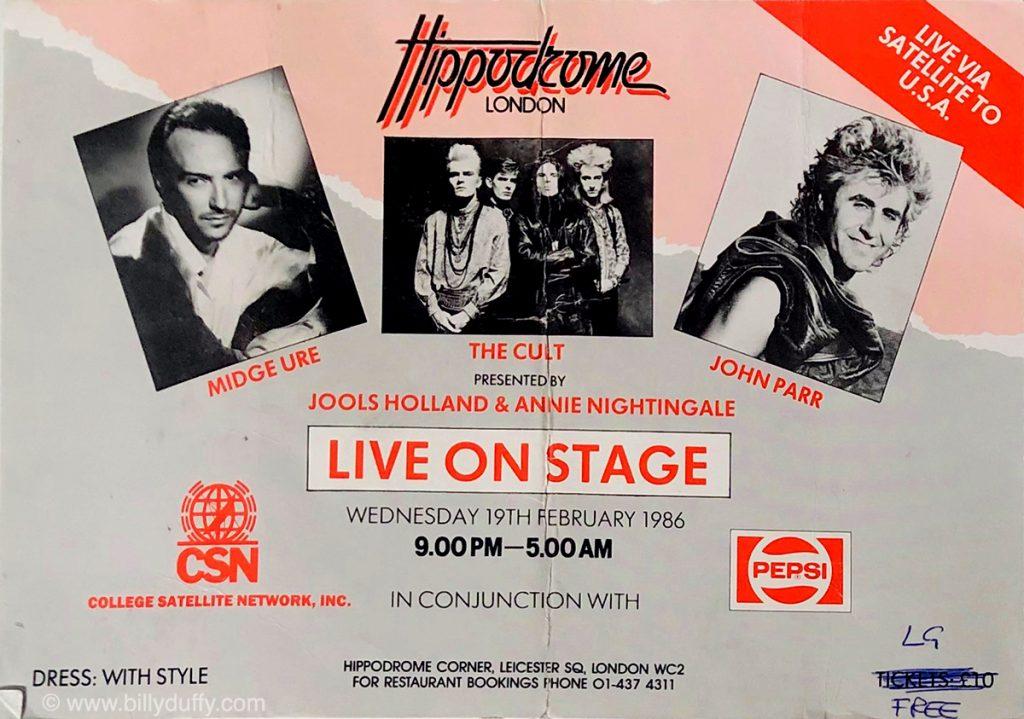 Live Satellite Show in London - 1986
