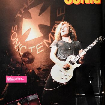 Live shot in Raw Magazine – 1989