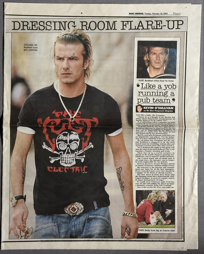 David Beckham in a Cult 'Electric' T-Shirt - 2003