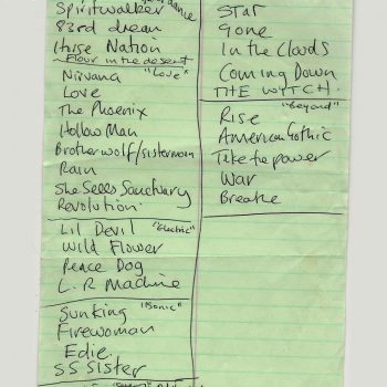 """The Cult """"Possibles"""" Live Song List – 2001"""