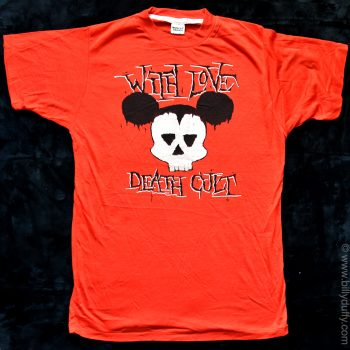 """Red """"WITH LOVE DEATH CULT"""" T-shirt"""