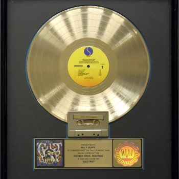 Billy's US Gold Disc for The Cult 'Electric'
