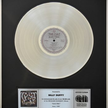 Billy's Canadian Platinum Disc for The Cult 'Electric'