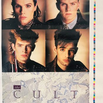 The Cult 'Go West' 7″ Single Poster Bag – Printers Proof – 1984