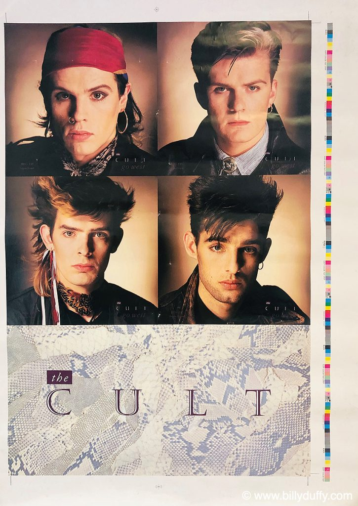 "The Cult 'Go West' 7"" Single Poster Bag - Printers Proof - 1984"