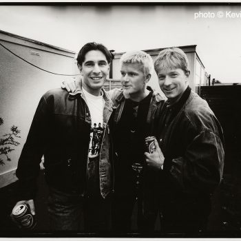 Backstage with City players 'Lakey' & 'Brighty' – 1993