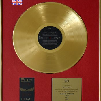 Billy's UK Gold Disc for The Cult 'Love'