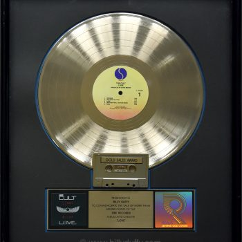 Billy's US Gold Disc for The Cult 'Love'