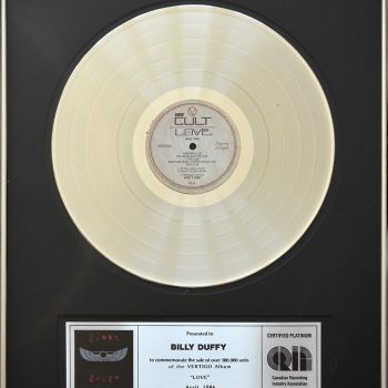 Billy's Canadian Platinum Disc for The Cult 'Love'