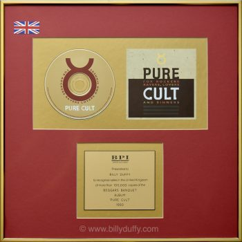 Billy's UK 'Pure Cult' Gold Disc