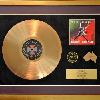 Billy's Australian Gold Disc for The Cult 'Sonic Temple'