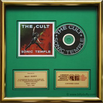 Billy's 'Sonic Temple' Gold Disc