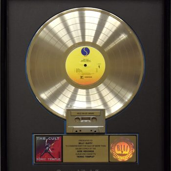 Billy's US Gold Disc for The Cult 'Sonic Temple'