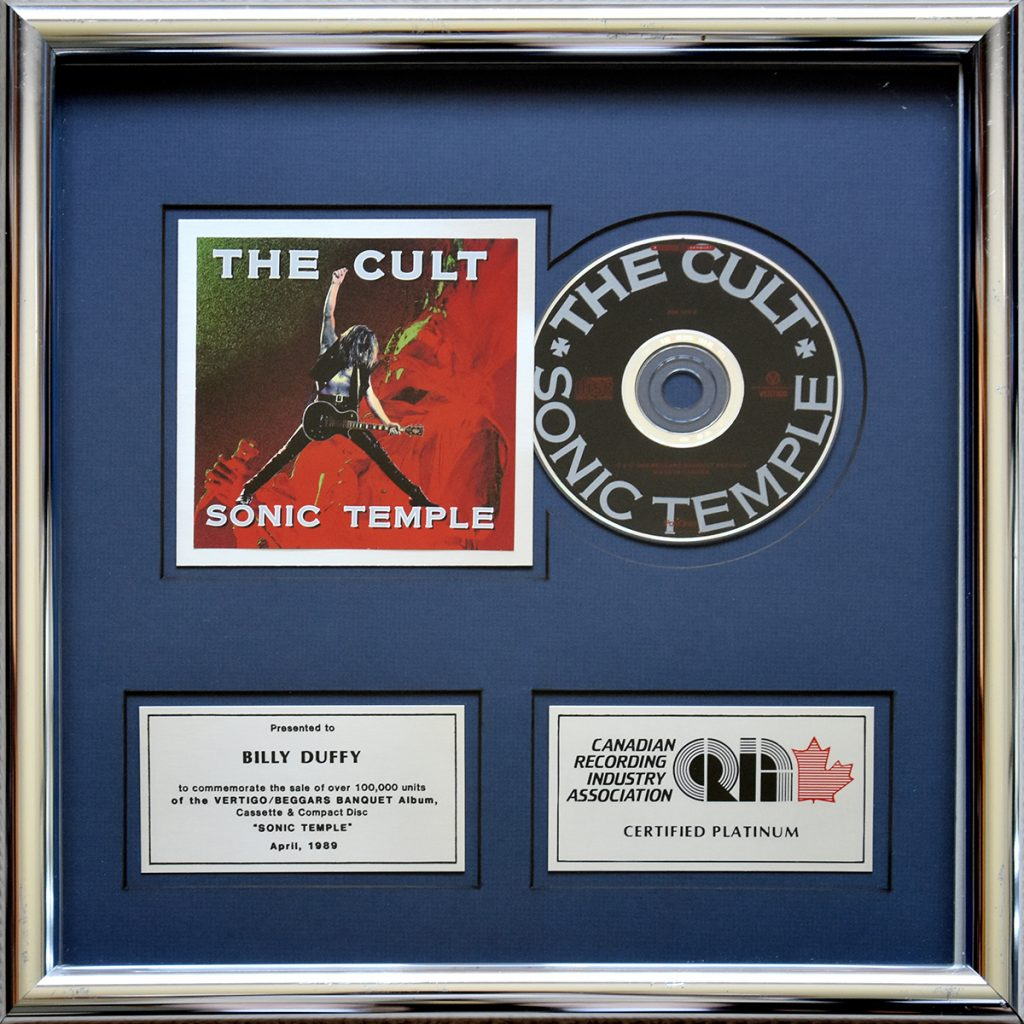 Billy's 'Sonic Temple' Platinum Disc