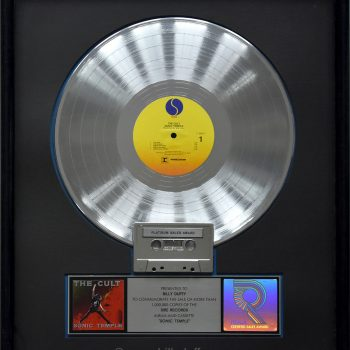 Billy's US Platinum Disc for The Cult 'Sonic Temple'