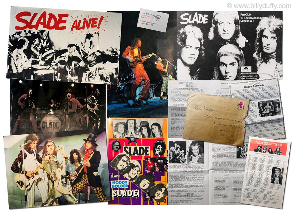 Slay-ed… Billy Duffy's Slade collection