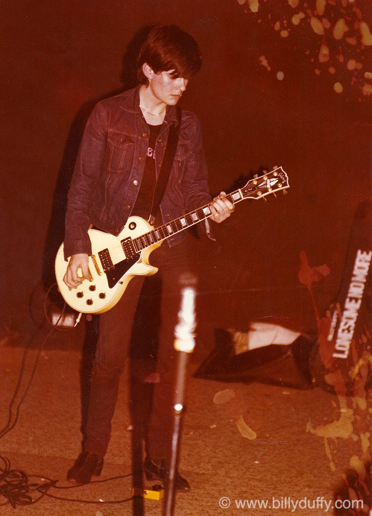 Billy Duffy with his first real Gibson Les Paul