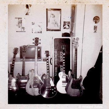 Studio Sweethearts guitars at their one and only gig…