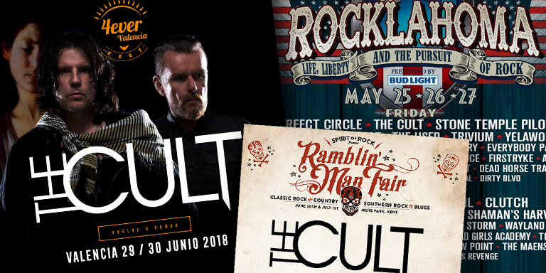 The Cult live shows in 2018