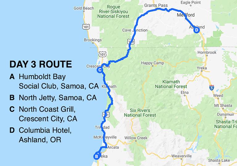 BD Road Trip Map Day 3