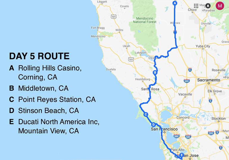 BD Road Trip Map Day 5