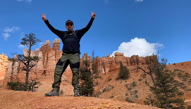 Billy Duffy in Bryce Canyon