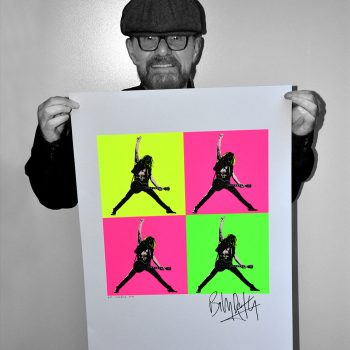 Billy Duffy Signed Day Glo Pop Art Poster