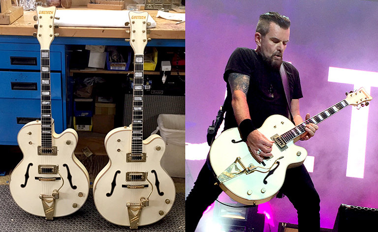 Billy Duffy 'Stern' Gretsch White Falcon